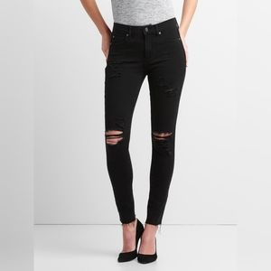 GAP Black distressed skinny Jeggings